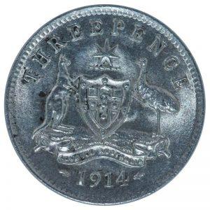 Australia 1914 Threepence Coin
